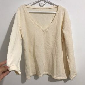Free People Sweaters - knit cream sweater